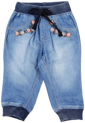 Gini & Jony Baby girl Cotton Solid Jeans - Blue