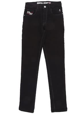 Gini & Jony Boy's Slim fit Jeans - Black