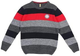 Gini & Jony Boy Polyester Striped Sweater - Multi