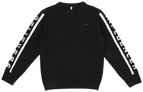 Gini & Jony Boy Polyester Solid Sweater - Black