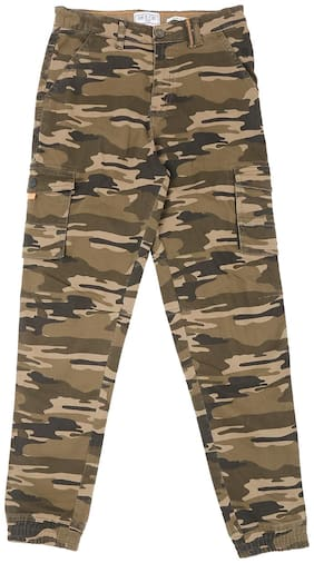Gini & Jony Boy Printed Trousers - Green