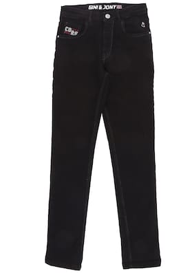 Gini & Jony Boy's Slim fit Jeans - Black