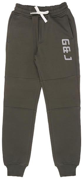 Gini & Jony Boy Cotton Track pants - Green