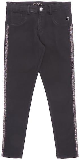 Gini & Jony Basic Slim fit Jeans for Girls - Black