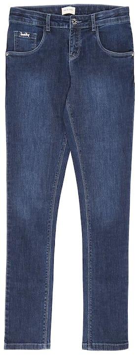 Gini & Jony Basic Slim fit Jeans for Girls - Blue