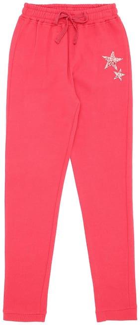Gini & Jony Girl Cotton Track pants - Red