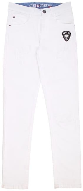 Gini & Jony Boy Solid Trousers - White