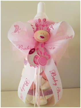 "Giraffe Centerpiece Bottle Big Large 14"" Baby Shower Piggy Bank Girl Decoration"