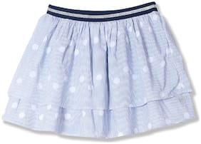 U.S. Polo Assn. Girl Cotton Striped Tiered skirt - Blue