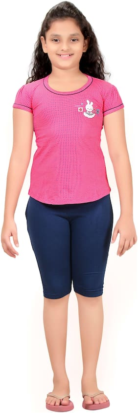 Girls Cotton Top And Pant Night Suit By Fashion Fever