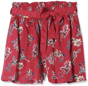 CHEROKEE Girl Rayon Printed Regular shorts - Red