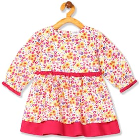 Girls Floral Print Fit And Flare Dress