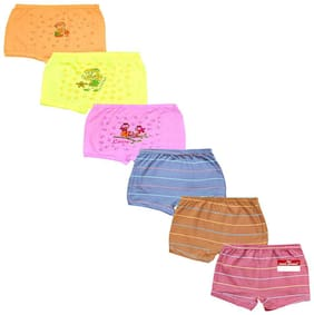 Pride Apparel Panty & bloomer for Girls - Multi , Set of 6