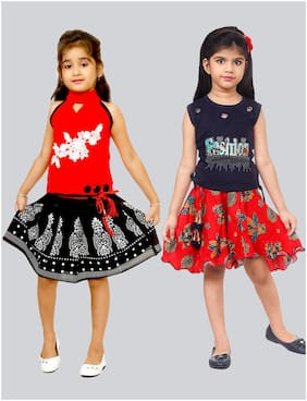 The Panda Ant Girls Party Top & Skirt Combo