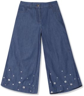 U.S. Polo Assn. Girl Cotton Trousers - Blue