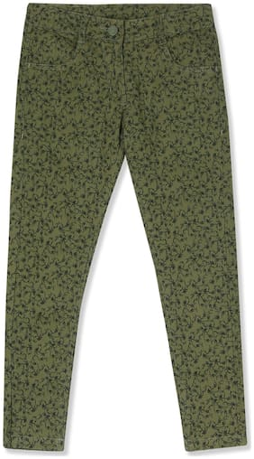 CHEROKEE Girl Cotton Blend Trousers - Green