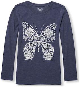 THE CHILDREN'S PLACE Girl Cotton Printed T shirt - Blue