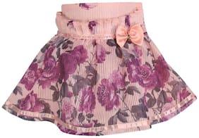 Cutecumber Girl Blended Printed Flared skirt - Multi