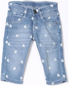Girls Slim Fit 3/4th Jeans