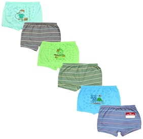 Pride Apparel Panty & bloomer for Girls - Green , Set of 6