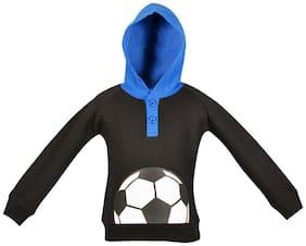 Gkidz Boy Cotton Printed Sweatshirt - Black