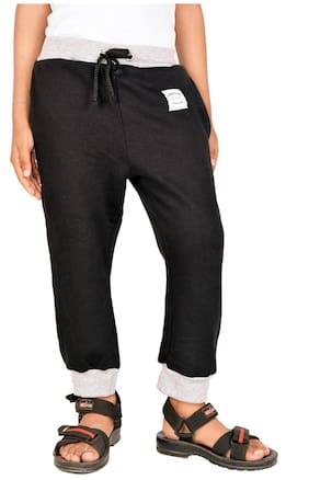 Gkidz Boy Cotton Track pants - Black