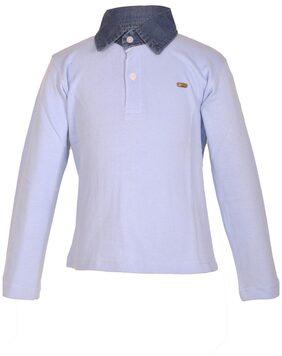 Gkidz Boy Cotton Solid T-shirt - Blue