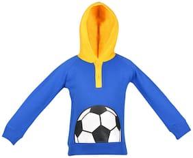 Gkidz Boy Cotton Solid Sweatshirt - Blue