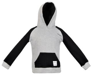 Gkidz Boy Cotton Solid Sweatshirt - Black
