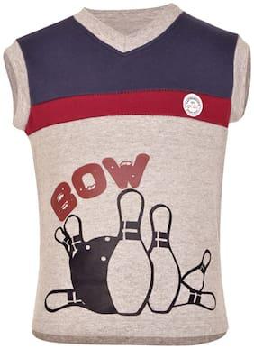 Gkidz Boy Cotton Printed Sweatshirt - Grey
