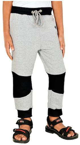 Gkidz Boy Cotton Track pants - Grey