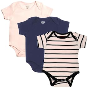 Gkidz Infants Pack of 3 Striped and Solid Color