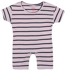 Gkidz Unisex Cotton Striped Jumpsuit - Pink 777bc748e