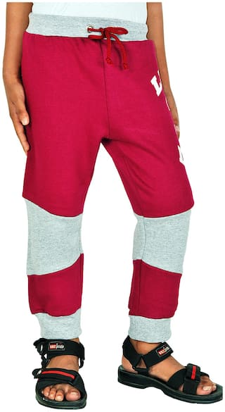 Gkidz Boy Cotton Track pants - Red