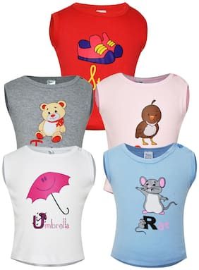 Gkidz Multi Color T-Shirt Pack Of 5