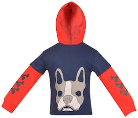 Gkidz Red And Navy Hooded Sweatshirt