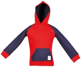 Gkidz Boy Cotton Striped Sweatshirt - Red