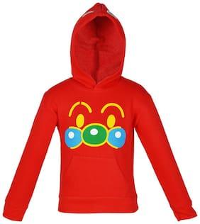 Gkidz Boy Cotton Solid Sweatshirt - Red