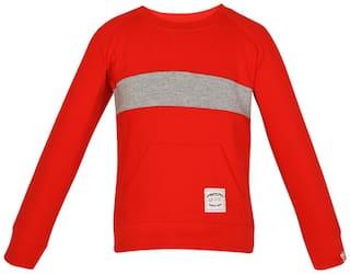Gkidz Boy Cotton Printed Sweatshirt - Red