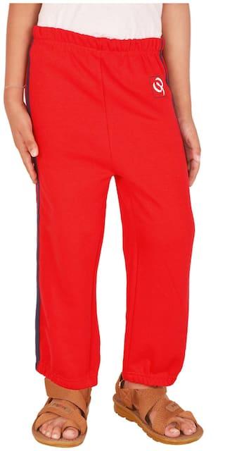 Gkidz Boy Cotton Track pants - Red