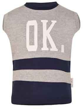 Gkidz Boy Cotton Striped Sweatshirt - Blue