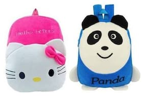 Gking Combo Offer Baby School Bag Hello Kitty And Spider Man School Bag Multi