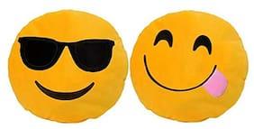 Gking Emoji Smiley Cushion Pillows pack of 2