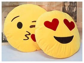 Gking Emoji Smiley Cushion Pillows pack of 2