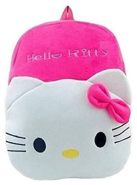 Gking Gking Kids School Bag Hello Kitty Soft Plush Backpacks Cartoon Baby Boys/Girls Plush Bag White