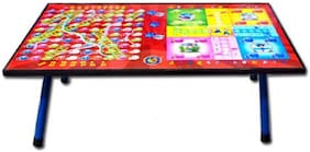 GLS Foldable Laminated Multipurpose Table With Ludo-Snakes & Ladder Board Games