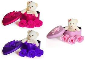 GLUCKLICH Multi Teddy Bear - 12 cm