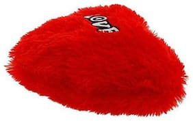 GLUCKLICH RED HEART SHAPE SOFT PILLOW (PACK OF 1 RED)