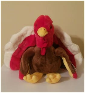 ~~GOBBLES THE TURKEY BEANIE BUDDY~~ MWMT!!  SOFT & SILKY!!  GOBBLE, GOBBLE!!!