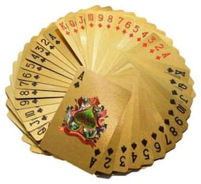 Gold Plated Poker Playing Cards 52 Cards with Joker